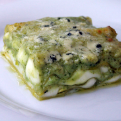 Lasagne pesto genovese e tonno